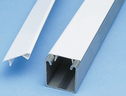 P1184p Unistrut White Pvc Enclosure Strip 3m X 41mm
