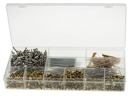 din 964 85 934 125 messing schrauben muttern und unterlegscheiben sortiment linsenkopf m3 5. Black Bedroom Furniture Sets. Home Design Ideas