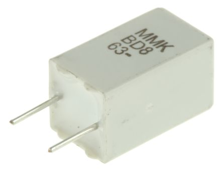 KEMET 2.2μF Polyester Capacitor PET 40 V ac, 63 V dc ±10% MMK Series Through Hole