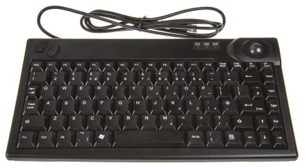 Sejin Wired Black USB Compact Trackball Keyboard