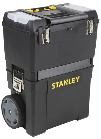 Stanley Plastic Mobile Work Center Removable Tote 3 drawers dimensions 480 x 630 x 290mm