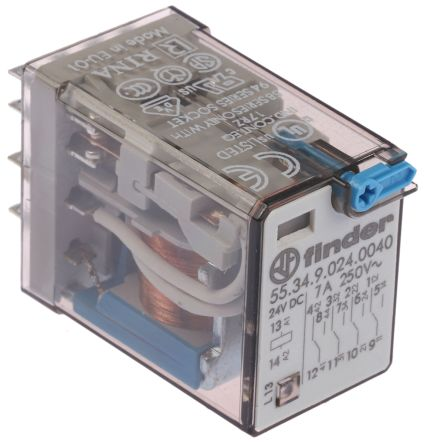 finder pdt plug   latching relay