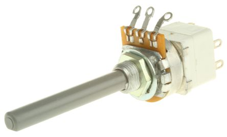 TE Connectivity 23 Series Carbon Film Potentiometer with a 6.35 mm Dia. Shaft, 47kΩ, ±20%, 0.2W, Panel Mount
