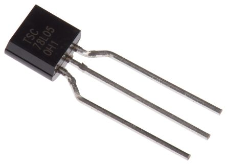 Taiwan Semiconductor TS78L05CT A3G Linear Voltage Regulator, 150mA, 5 V, ±4% 3-Pin, TO-92