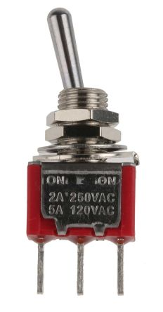 toggle switch spdt onon 5 a 250 v ac pcb