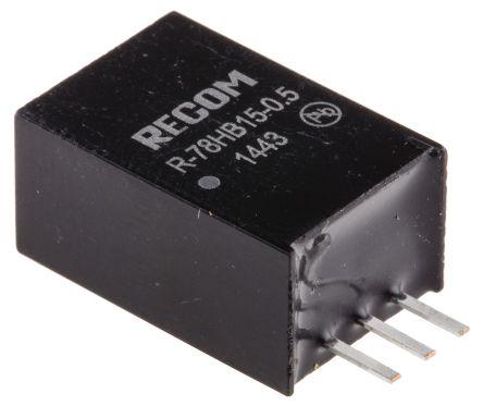 recom 7.5w 开关稳压器 r-78hb15-0.