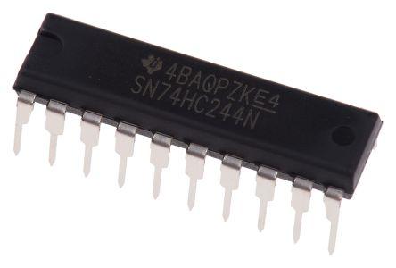 texas instruments sn74hc244n hc 系列 8位 三态 非反相 缓冲器,线路