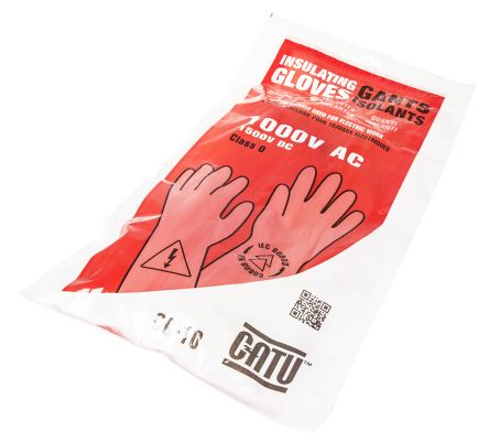 Catu Beige Electrical Safety Latex Electricians Gloves 10 - L