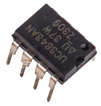 texas instruments uc3843an pwm 电流模式控制器, 1 a输出, 升压