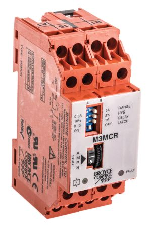 broyce control 1相 电流 监控继电器 m3mcr, 带常开/常闭 触点
