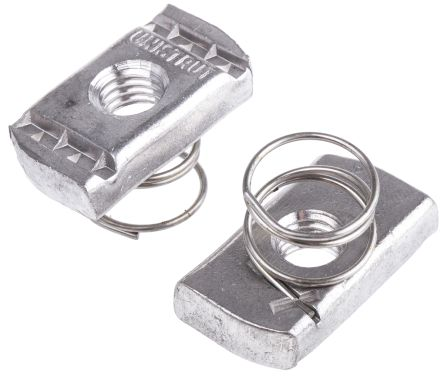 Unistrut Channel Nut, M10, Nut Base Dimensions 21 x 41mm, Stainless Steel, 0.04kg