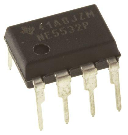 texas instruments 运算放大器 ne5532p 双, 10mhz增益带宽积, 8引脚