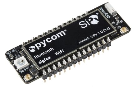 Pycom SiPy IoT RCZ1/3 2.4 GHz, 868 MHz Bluetooth Smart (BLE), SigFox, WiFi Development Board