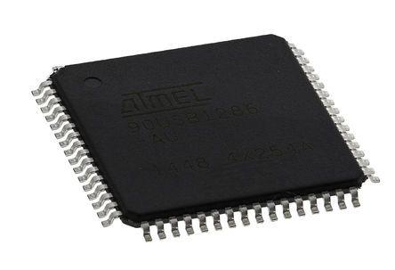 microchip technology at90 系列 mcu 8 bit avr at90usb1286-au, 16m