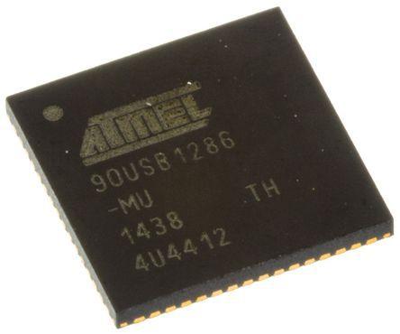 microchip technology at90 系列 8 bit avr mcu at90usb1286-mu, 16m