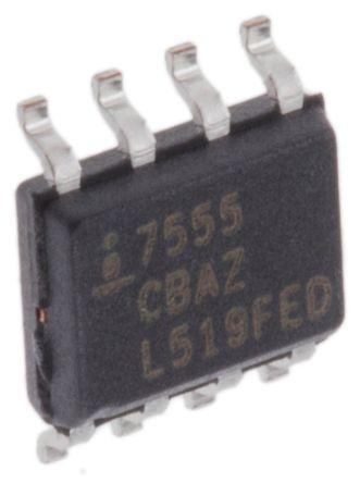 intersil icm7555cbaz 1mhz 计时器电路, 2 → 18 v电源, 8引脚 soic