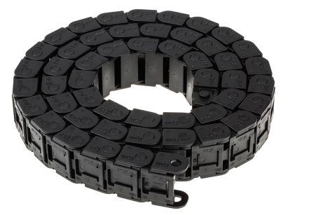 Cha ne porte c ble noir 27 mm x 15mm 1m - Chaine porte cable ...