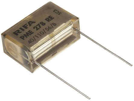 KEMET Paper Capacitor 100nF 440 V ac ±20% Tolerance PME278 Through Hole +110°C