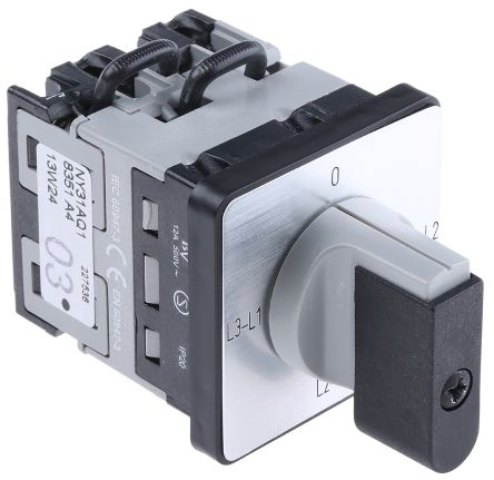 F2860078 01 ny31aq1 3 positions rotary cam switch, 16 a, handle baco  at reclaimingppi.co