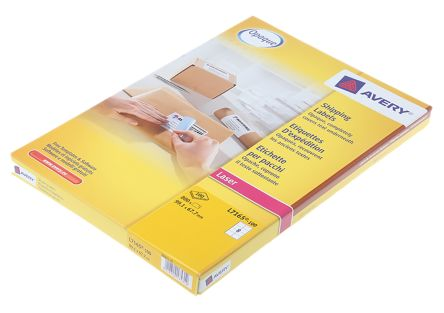 Avery White Blank Adhesive Label, 99.1 x 67.7mm, Pack of 100