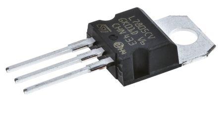 stmicroelectronics l7805cv 线性稳压器, 最高 35 v输入, 5 v输出