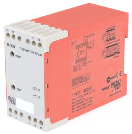 Broyce Control Temperature Monitoring Relay with SPDT Contacts, 230 V ac