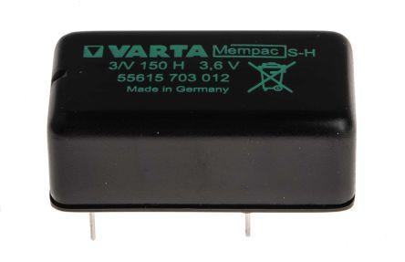 55615703012  Batterie a bottone ricaricabili Varta, V150H NiMH, 150mAh, Terminale Pin PCB 3.6V ...