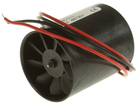 DC Axial Fan, 30 (Dia.) x 36mm, 8.76m³/h, 0.58W, 12 V dc (D300L Series)
