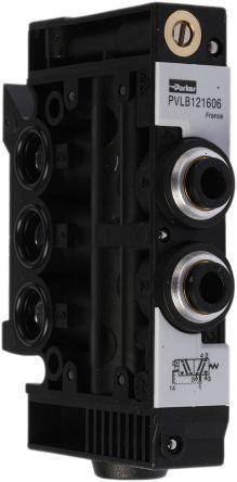 pvl b121606 soupape pneumatique commande parker fonction 5 2 montage bloc rail din g 1 8. Black Bedroom Furniture Sets. Home Design Ideas