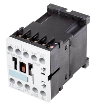 Sirius Classic 3RT1 3 Pole Contactor, 12 A (AC3), 5.5 kW (AC3), 24 V dc Coil