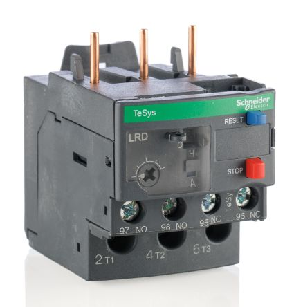 Lrd08 overload relay 2 5 4 a 4 a schneider electric for Manual motor starter with overload protection