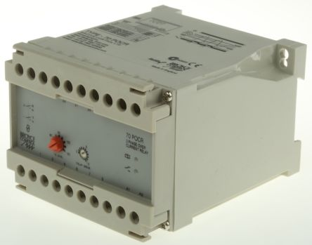 Broyce Control Current Monitoring Relay with DPDT Contacts, 3 Phase, 400 V ac