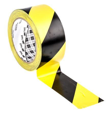24 704 3m 766 Black Yellow Vinyl Lane Marking Tape 50mm
