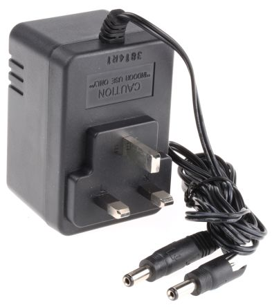 Mascot Plug In Power Supply 12V dc, 1A 1 Output, 1 x 2.1 mm with Snap-Lock, 1 x 2.5 mm with Snap-Lock