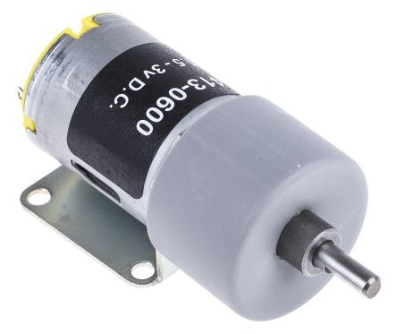 RS Pro DC Geared Motor, Brushed, 3 V, 1.5 → 3 V dc, 1000 gcm, 72 rpm, 1.71 W