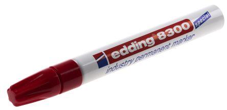 Edding Fine Tip Red Permanent Marker, 1.5 → 3mm Line Width