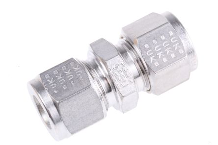 Parker Stainless Steel Pipe Fitting Straight Union x12mm OD