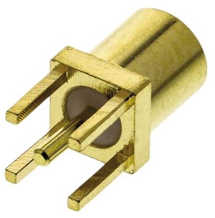 TE Connectivity 50Ω Straight Through Hole MMCX Connector, jack, Solder Termination, 0 → 6GHz