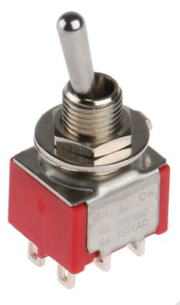 toggle switch dpdt onon 5 a 28 v dc panel mount