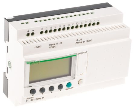 Schneider Electric Zelio Logic 2 Logic Control With Display, 12 x Input, 8 x Output, 12 V dc Supply Voltage