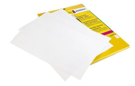 Avery White Blank Adhesive Label, 297 x 210mm, Pack of 20