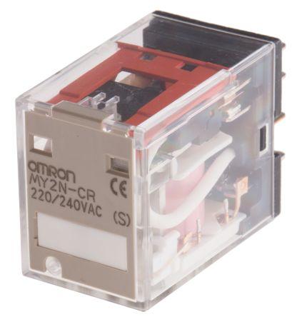 My2n Cr Ac220 240 S Dpdt Plug In Relay 10a 220 240vac