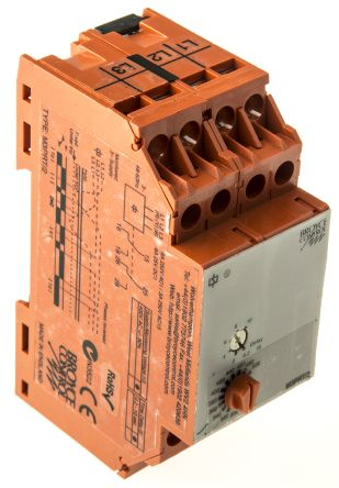 Broyce Control Phase, Voltage Monitoring Relay with DPDT Contacts, 3 Phase, 280 → 520 V ac