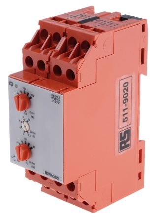 Broyce Control Phase, Voltage Monitoring Relay with DPDT Contacts, 3 Phase, 400 V ac