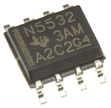 texas instruments 运算放大器 ne5532d 双, 10mhz增益带宽积, 8引脚