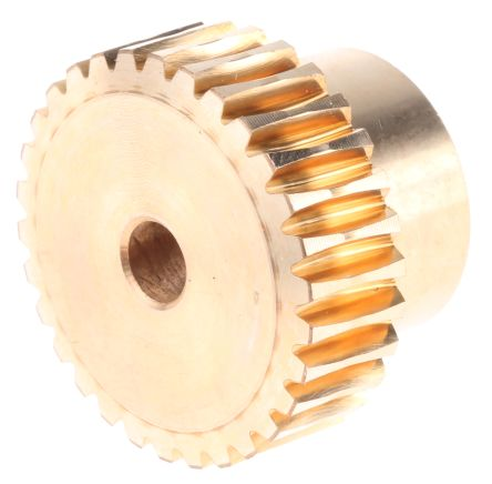 RS Pro Bronze 30 Teeth Worm Wheel Gear, 24.16mm PitchDiam. , 25.6mm Hub Diam. , 18mm Face Width