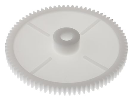RS Pro POM 80 Teeth Spur Gear, 80mm Pitch Diam. , 18mm Hub Diam. , 8mm Bore Diam.