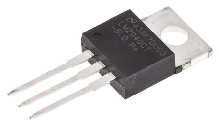 Texas Instruments LM2940CT-5.0/NOPB, LDO Regulator, 1A, 5 V, 6.25 → 26 Vin, TO-220 3-Pin