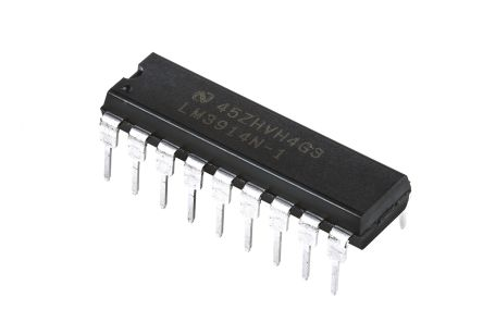 Texas Instruments LM3914N-1/NOPB, LED Driver, 10-Digits 10-Segments, 18-Pin MDIP