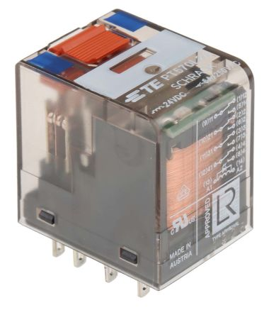 pt570l24 6 1415001 1 te connectivity 4pdt pcb mount non latching te connectivity 4pdt pcb mount non latching relay 24v dc coil